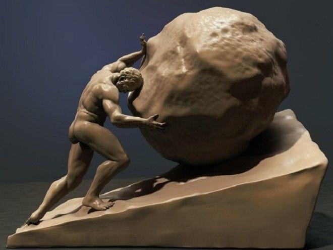 Скульптура Сизифов труд 1534