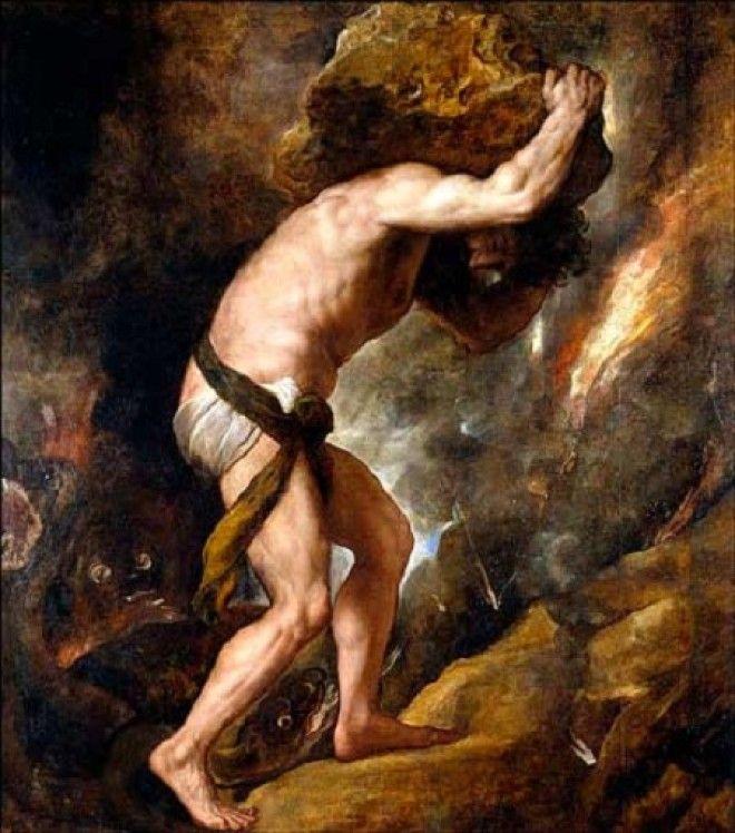 Тициано Вечеллио Наказание Сизифа 15471549Размер картины 237 x 216 см холст масло
