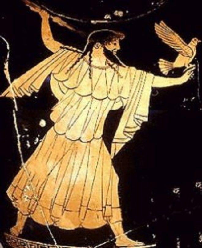 Зевс Громовержец Античная вазопись