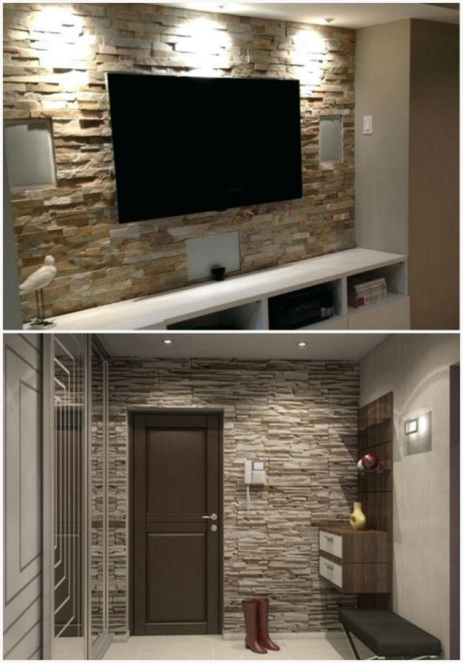 Стена с имитацией каменной кладки