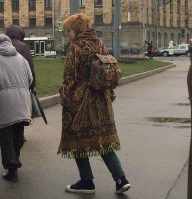 Пальто из ковра