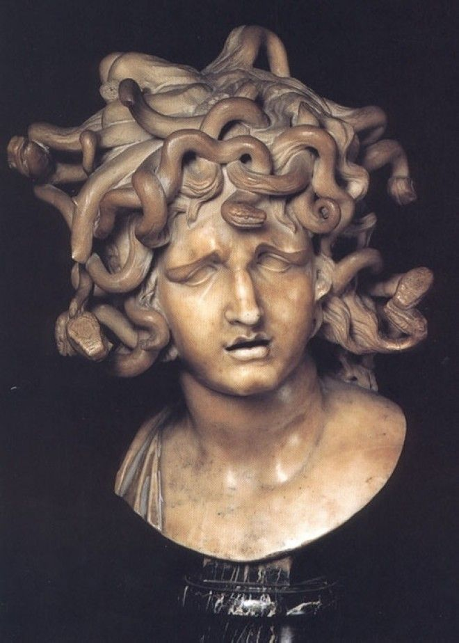 Голова Медузы Горгоны Мрамор1630 Автор Джованни Лоренцо Бернини