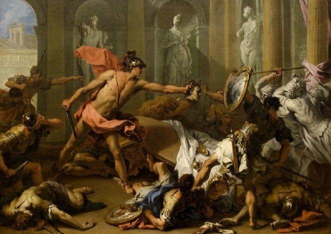 Персей обращает Финея в камень 17051710 Автор Ricci Sebastiano Риччи Себастьяно