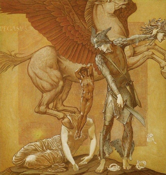 Рождение Хрисаора и Пегаса из крови горгоны Медузы