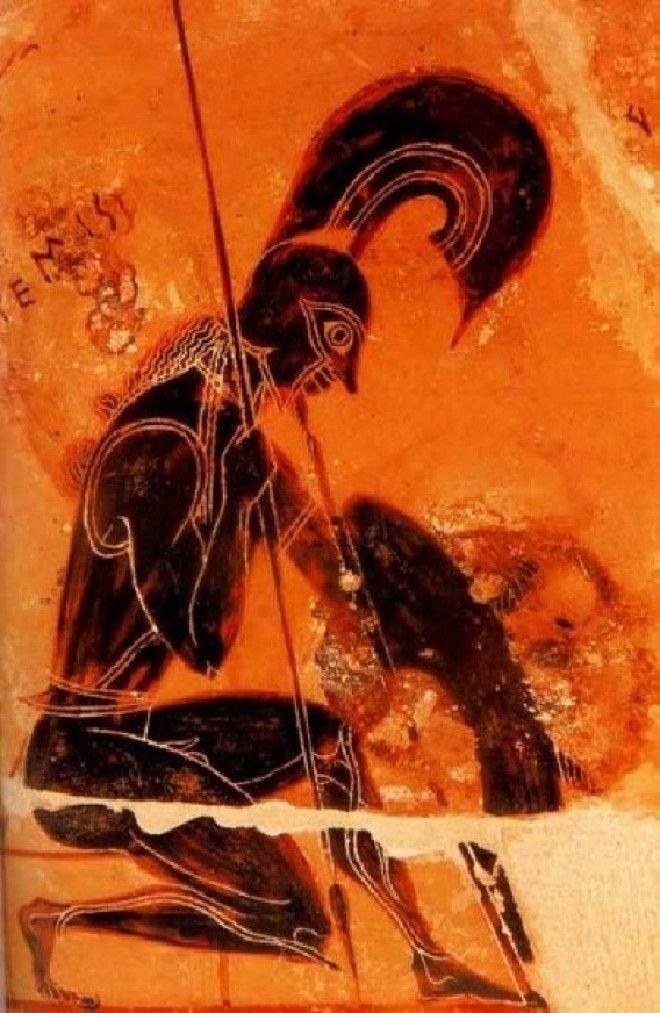 Бог войны Арес Античная вазопись