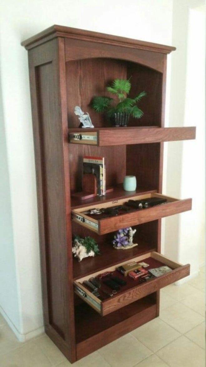 Шкаф с дополнительными выдвижными полочками