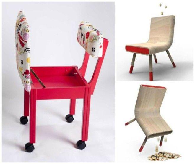 Простой стульчик с функциональным сидением которое оборудовано небольшим потайным отсеком