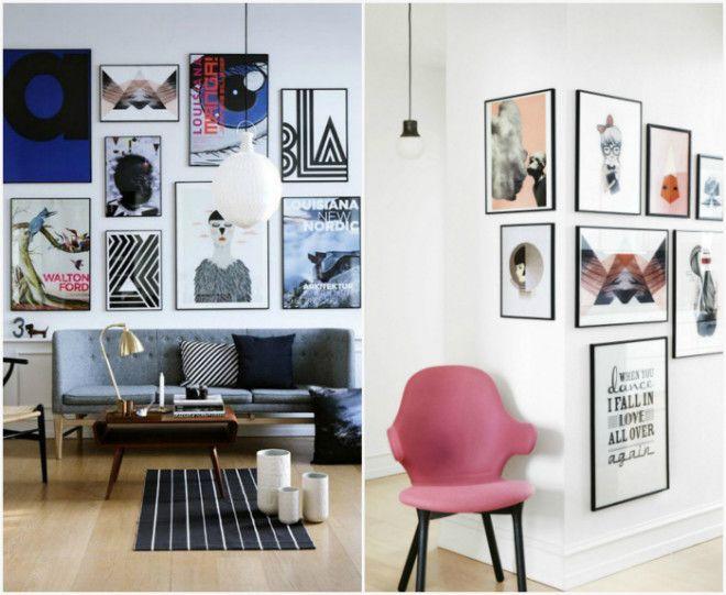 Плакаты и фотографии в интерьере