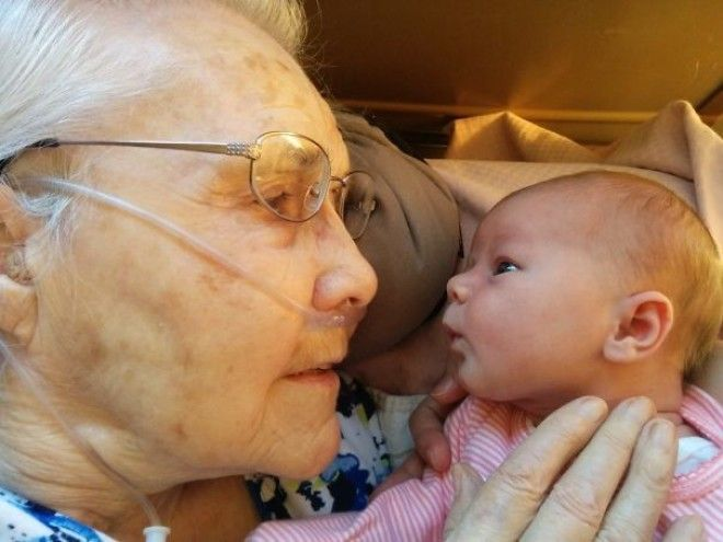 My 92 Year Old Grandmother Meeting My 2 Day Old Daughter For The First Time. Life Comes And Goes, But It