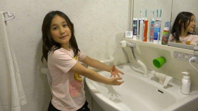 Длину крана в раковине можно менять ванная ванная комната дизайн для дома необычно познавательно удобства япония японцы