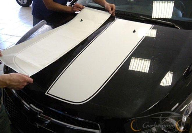 Спортивные полосы на кузове Фото carbonnyru