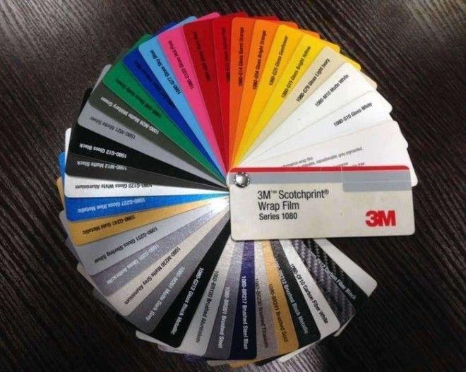 Цветовая палитра виниловых пленок Фото wrapitru