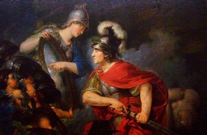 Афина вручает Персею зеркальный щит Автор Бернхард Роде