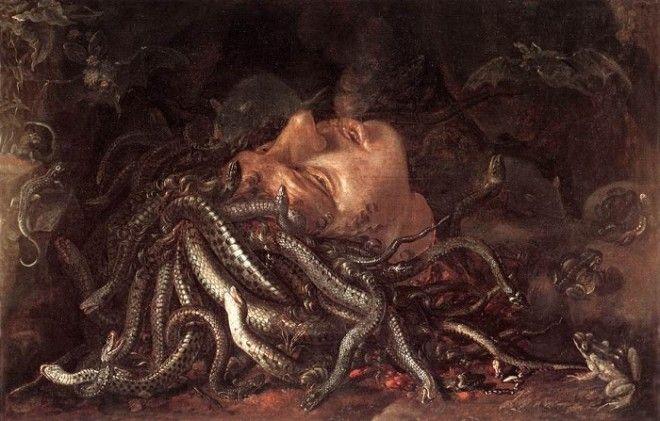 Голова горгоны Медузы Автор Леонардо да Винчи