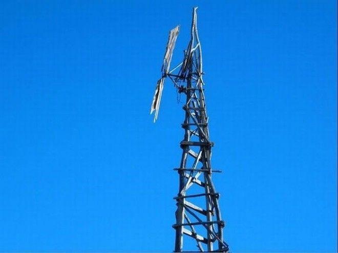 Ветряная мельницакоторая была построена без всяких вспомогательных инструментов