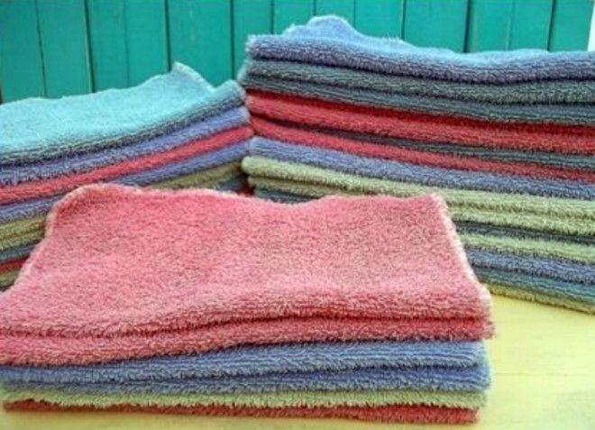 Выцветшие и дырявые полотенца