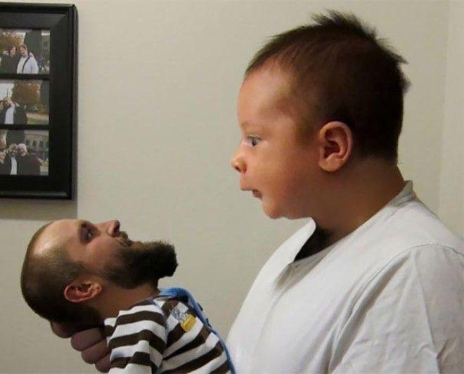 люди решили поменяться лицами с детьми замена лиц на детские