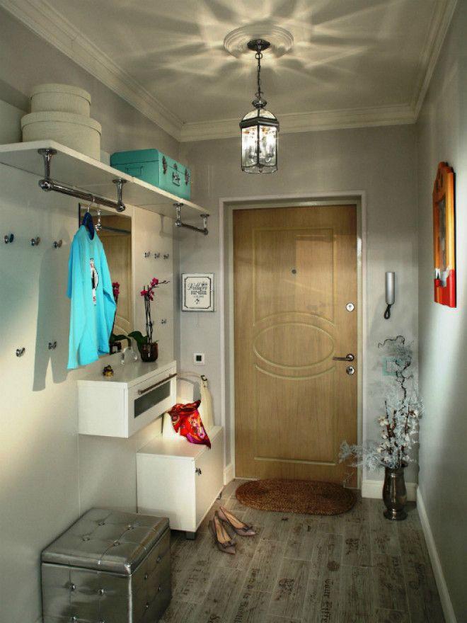Стильный коридор в серых тонах
