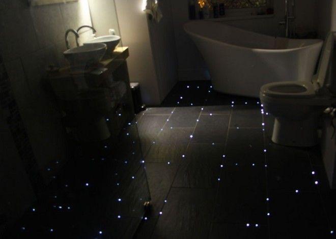 Мерцающий пол в ванной комнате