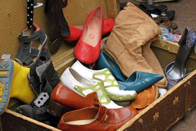 Разорванная или устаревшая обувь