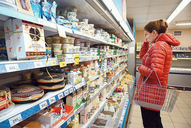 Свежие продукты в супермаркете