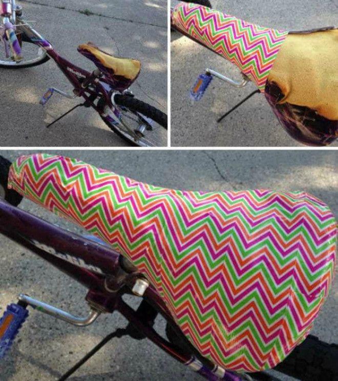 Потрепанное велосипедное сиденье