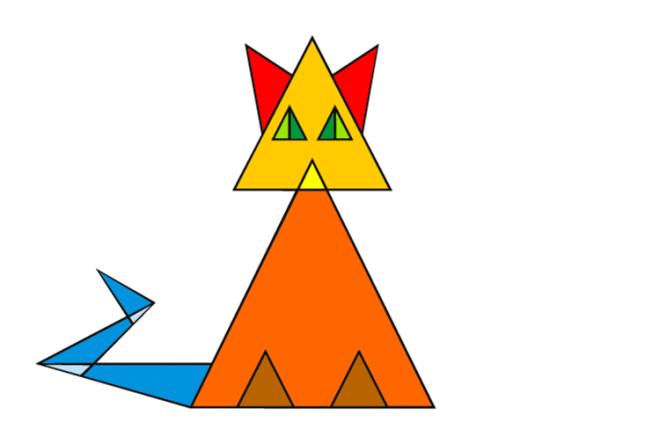 SТест на внимательность Сколько треугольников в этом котике