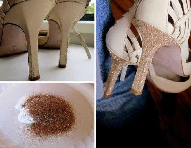 Декор потрепанных каблуков