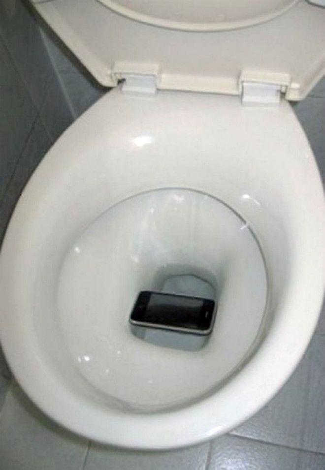 Спасенный телефон.