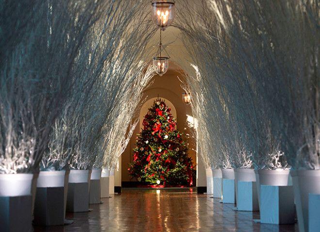 белый дом Рождество