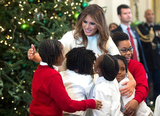 мелания трамп с детьми