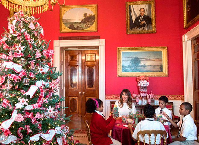 мелания трамп Рождество 5