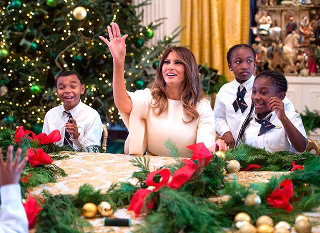 мелания трамп Рождество 6