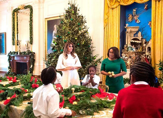 мелания трамп Рождество 4