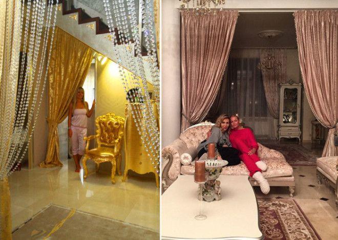 Дома у Ирины Салтыковой и Анастасии Волочковой