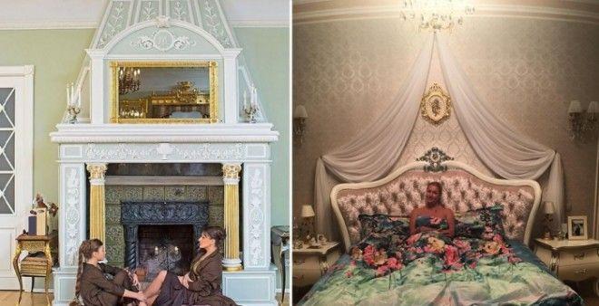 Гостиная Анастасии Мельниковой и спальня Анастасии Волочковой