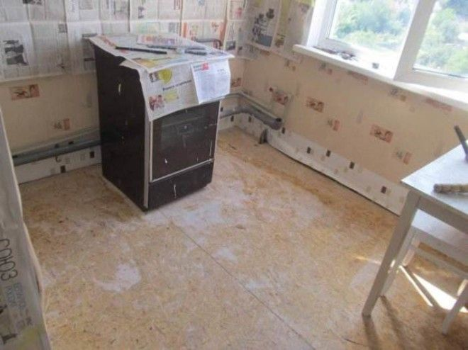 Ремонт пола на кухне в хрущевке