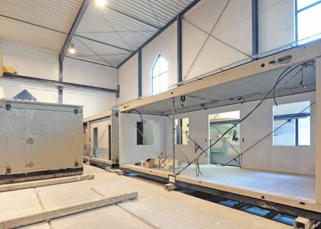 Модули для домов компании Dennert производят в фабричных условиях