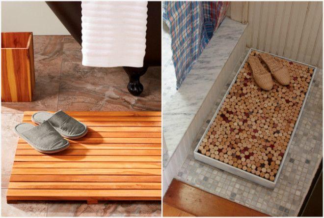 Деревянный коврик для ванны