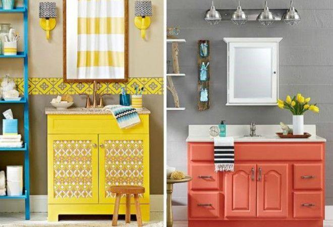 Яркая покраска шкафчиков
