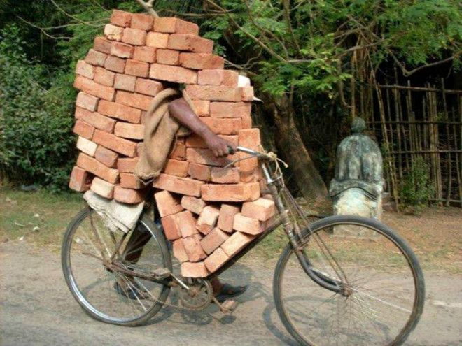 Стена на велосипеде
