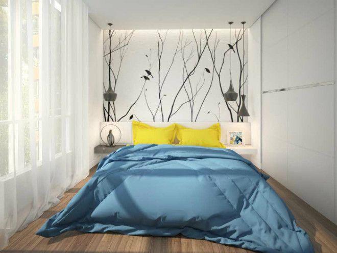 Уникальная белая спальня