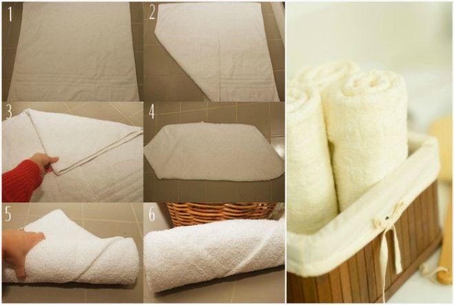 Аккуратное хранение полотенец