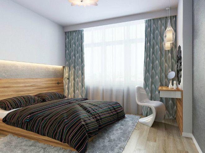 Маленькая спальня с рабочей зоной