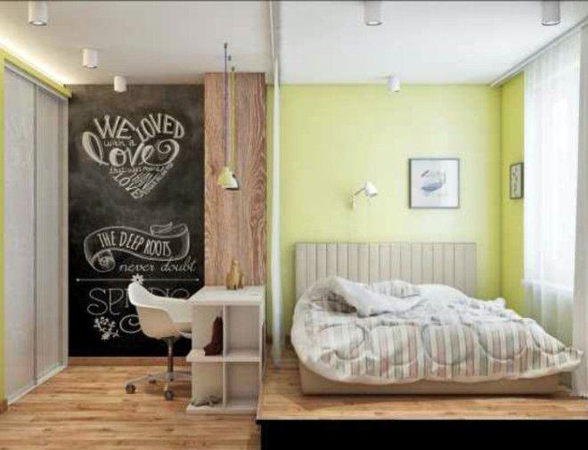 Оригинальное зонирование спальни
