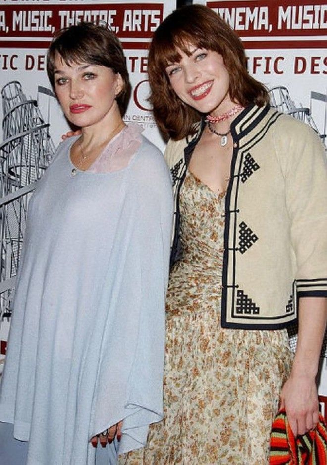 Милла Йовович с мамой Фото wwwwomanru