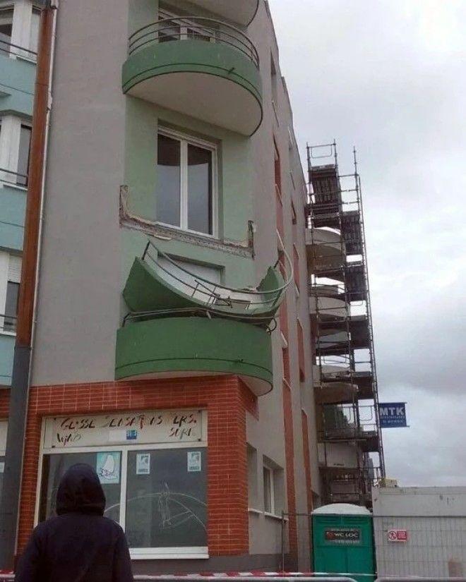 Обрушившийся балкон
