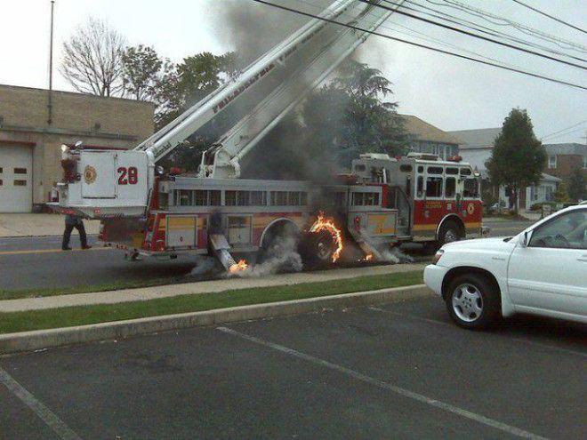 Казус с пожарной машиной