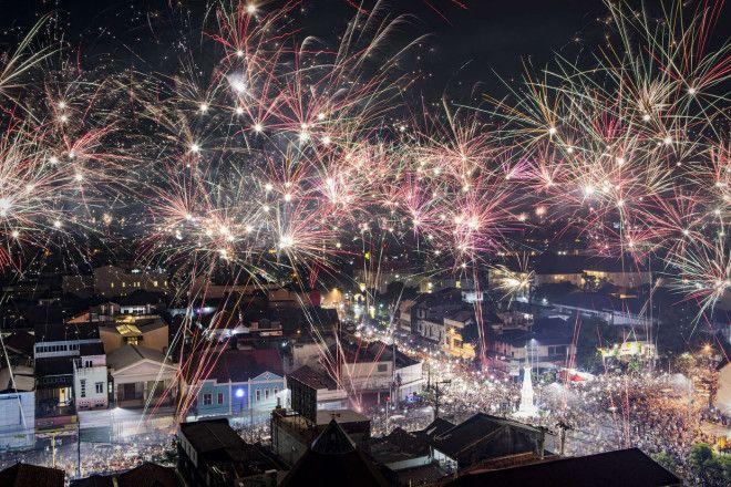 Как встретили в мире Новый 2018 год