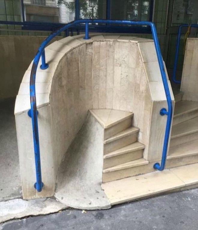 Креативная лестница с пандусом